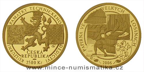 2500 Kč - Národní kulturní památka papírna Velké Losiny