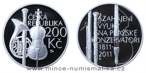 200 Kč - 200. výročí zahájení výuky na pražské konzervatoři
