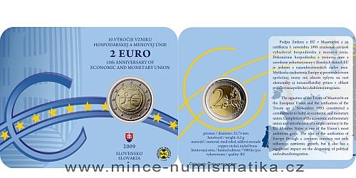 2 € - 10. výročí Hospodářské a měnové unie - SBĚRATELSKÁ KARTA