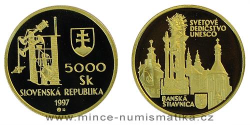5000 Sk - Světové dědictví UNESCO - Banská Štiavnica