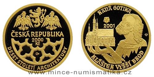 2000 Kč - Motiv Raná Gotika - klášter ve Vyšším Brodě