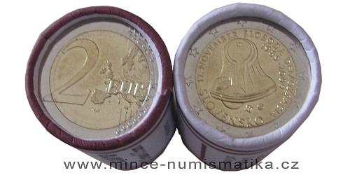 1 rulička (25 kusů) 2 € - 20. výročí 17. listopadu