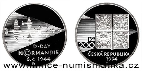 200 Kč - 50. výročí vylodění spojenců v Normandii