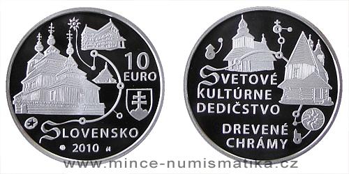 10 € - Svetové dedičstvo UNESCO Drevené chrámy v slovenskej časti karpatského oblúka