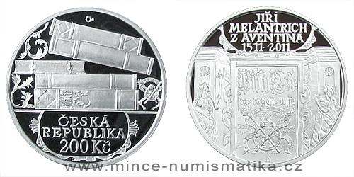 200 Kč - 500. výročí narození Jiřího Melantricha z Aventina