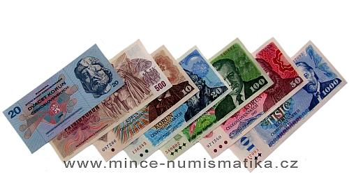 SÉRIE 1970 až 1989 - 7 kusů bankovek