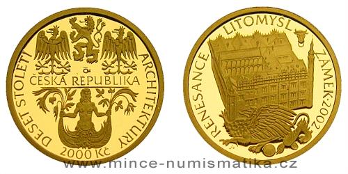 2000 Kč - Motiv Renesance - zámek Litomyšl