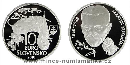 10 € - 150. výročie narodenia Martina Kukučína