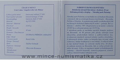 05_2010_20_Euro_Poloniny_certifikat