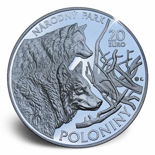 05_2010_20_Euro_Poloniny_mince_avers_proof