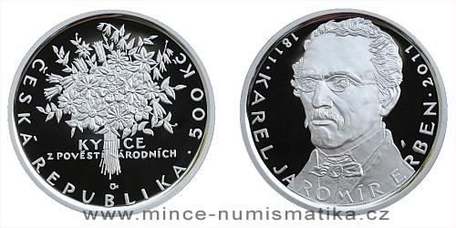500 Kč - 200. výročí narození spisovatele Karla Jaromíra Erbena