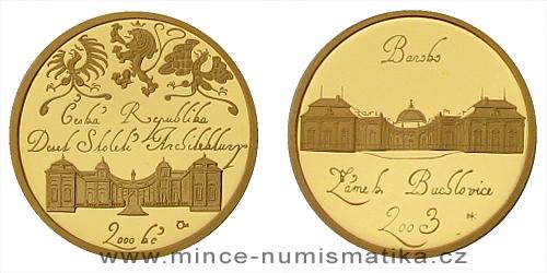 2000 Kč - Motiv Baroko - zámek v Buchlovicích