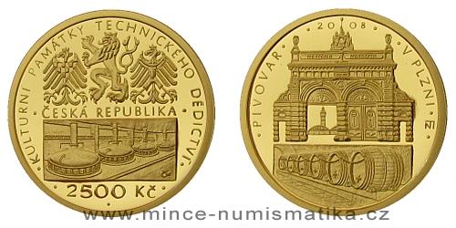 2500 Kč -  Národní kulturní památka pivovar Plzeň