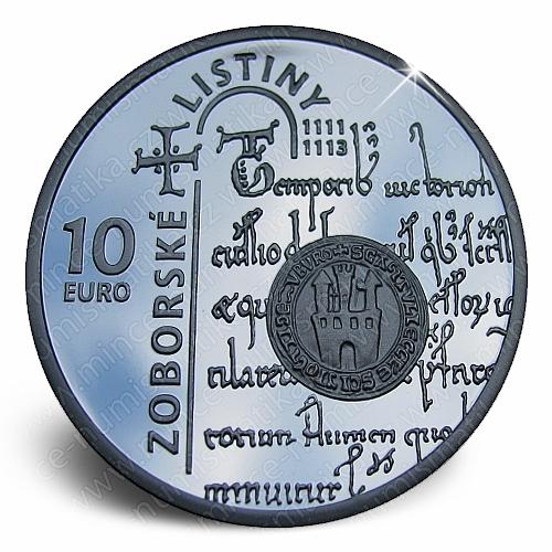 06_2011_10_Euro_Zoborske_listiny_mince_avers_proof
