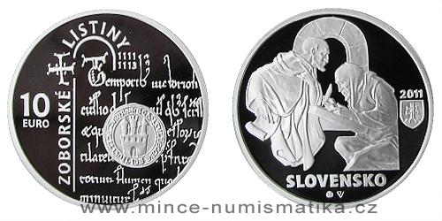 10 € - Zoborské listiny - 900. výročie vzniku prvej z dvoch listín