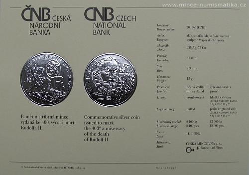 06_2012_200Kc_Rudolf_II._certifikat