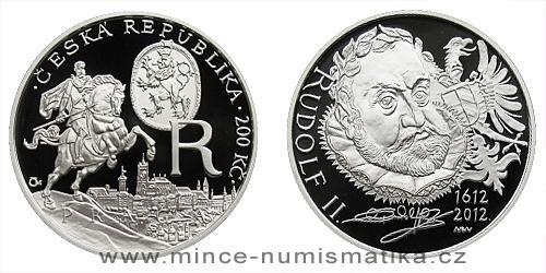 200 Kč - 400. výročí úmrtí Rudolfa II.