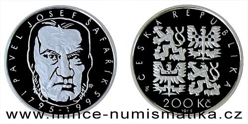 200 Kč - 200. výročí narození Pavla Josefa Šafaříka