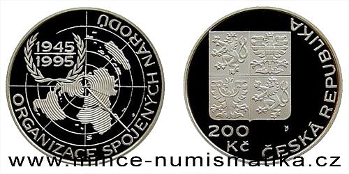 200 Kč - 50. výročí založení OSN