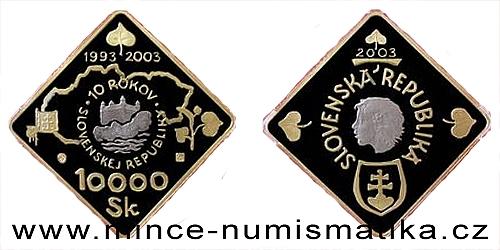 10000 Sk - 10. výročí vzniku SR