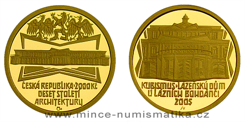 2000 Kč - Motiv Kubismus - lázeňský dům v Lázních Bohdanči