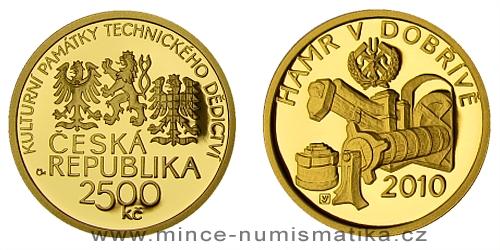 2500 Kč -  Národní kulturní památka hamr v Dobřívě