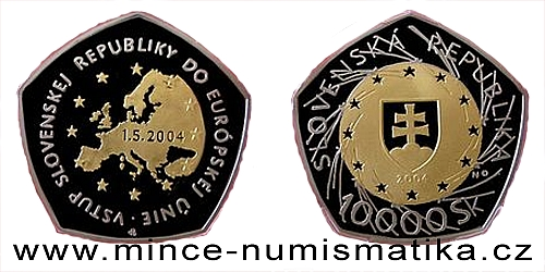 10000 Sk - Vstup Slovenské republiky do EU