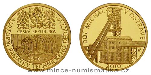 2500 Kč -  Národní kulturní památka důl Michal Ostrava