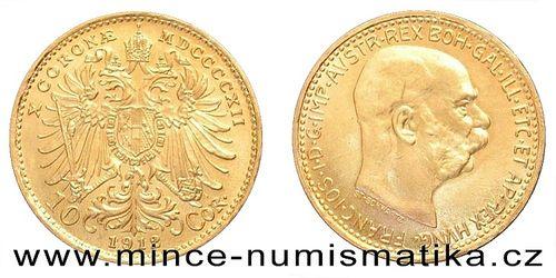 10 koruna FJI RU 1912 (novoražba)