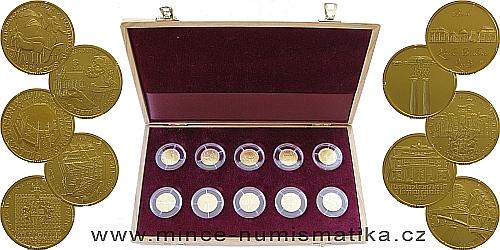 Sada zlatých mincí Deset století architektury 2001 - 2005