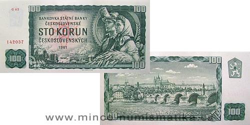 100 Kčs 1961