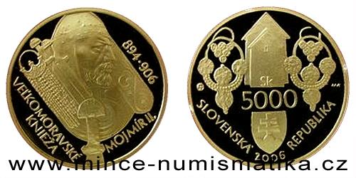5000 Sk - Veľkomoravský panovník Mojmír II.