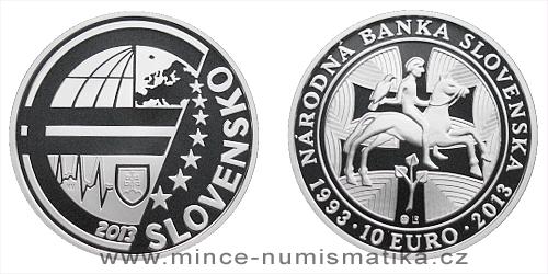 10 € Národní banka Slovenska - 20. výročí vzniku
