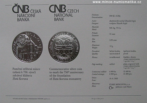 14_2013_200Kc_klaster_Zlata_koruna_certifikat