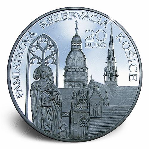 15_2013_20_Euro_Pamatkova_rezervace_Kosice_mince_revers