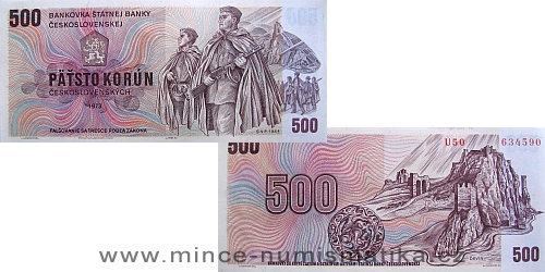 500 Kčs 1973
