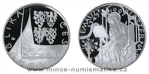 200 Kč - 650. výročí založení kláštera Na Slovanech ( Emauzy )