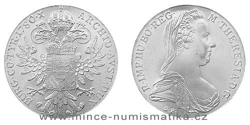 Levántský Tolar Marie Terezie 1780 S.F. (novoražba)