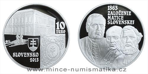 10 € - 150. výročie založenia - Matica slovenská