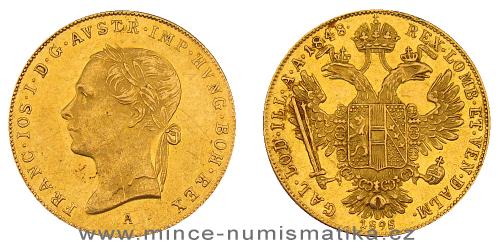 1 dukát FJI RU 1848 - 1898 A - 50. výročí vlády (mincovna Vídeň)