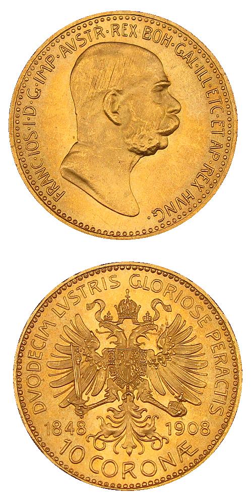 1848-1908_10_koruna_bz_FJI_RU_jubilejni_Au_mince_2