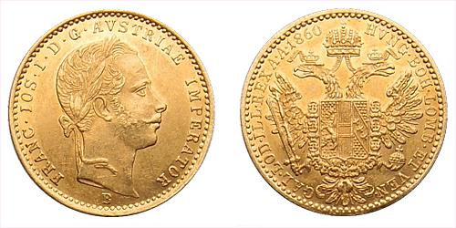 1 dukát FJI RU 1860 B (Kremnica)