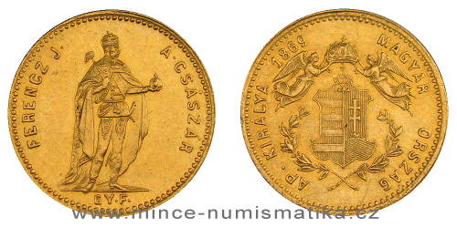 1 dukát FJI RU 1869 G.Y.F. (uherský)