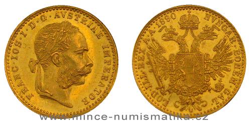 Zlatý 1 dukát FJI RU 1890