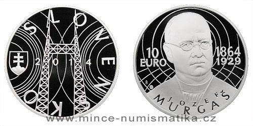 10 € - 150. výročie narodenia - Jozef Murgaš