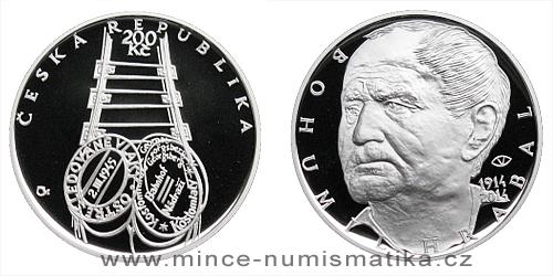 200 Kč - 100. výročí narození - Bohumil Hrabal