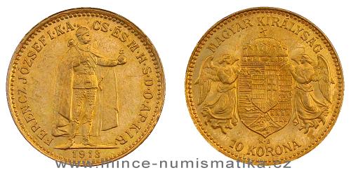 10 koruna FJI RU 1913 K.B. - vzácná