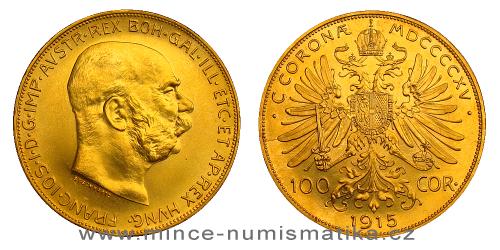 100 koruna 1915 - rakouská (novoražba)