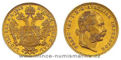 Zlatý 1 dukát 1915 FJI RU (novoražba)