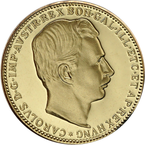 1918_Au_medaile_replika_20_koruny_unc_medaile_avers